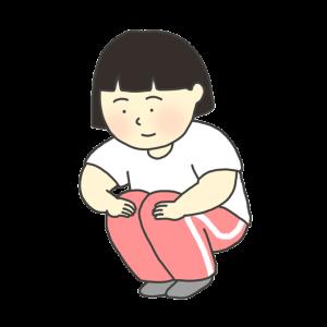 膝の屈伸運動のイラスト(女の子)