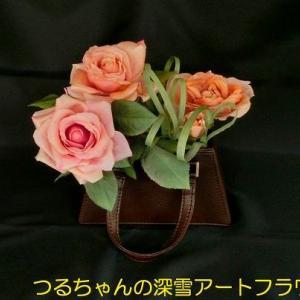 バラのアレンジ「ローズバッグ」