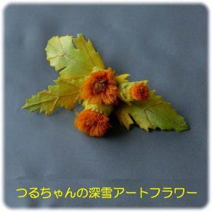 「アザミのコサージュ(黄色)」