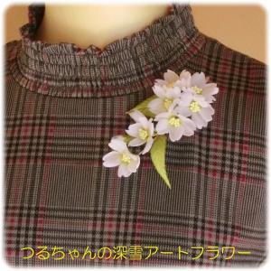 新作「大島桜のコサージュ(花芯・黄色)」と緊急事態宣言発令中