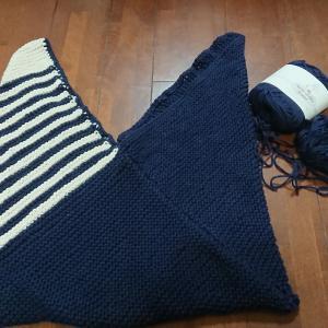 編みかけバッグをリメイク