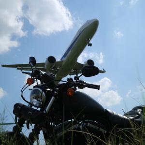 飛行機とバイク