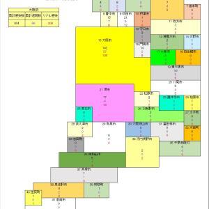 大阪府のコロナ分布図