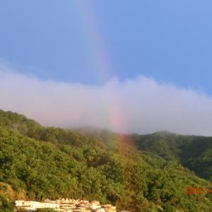 虹が出たぞ~!