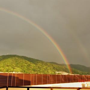 生駒山に虹が出た!