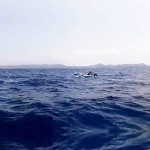 自作サイドフロートのテスト釣行(2回目)