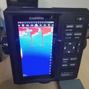 GARMIN(ガーミン)6型GPS魚探 GPSMAP 585 Plus GT21-TM振動子セットの接続テスト