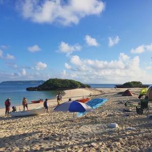 台風の影響で無人島キャンプは中止・変更