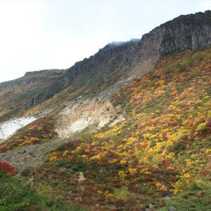 紅葉全開錦秋の安達太良山