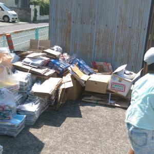 5/25(土)廃品回収を行いました。