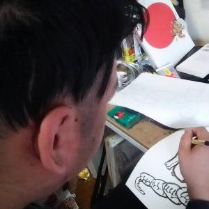 日本画の勉強