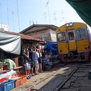 タイ バンコクのメークロン線路市場の楽しみ方!!