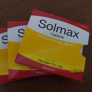 タイで喉が痛くて咳が出る場合の薬はSolmaxです!!