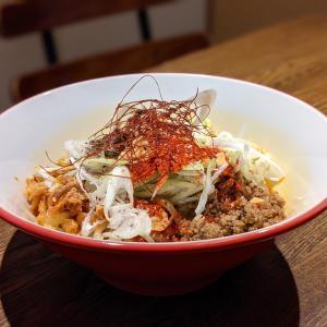 西新宿【汁なし坦々麺専門店 とろっと】もっちもち極太麺のシビ辛濃厚ソース汁なし担担麺の私流の美味しい食べ方!