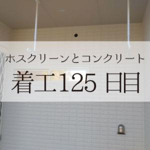 ホスクリーンとコンクリートと宅地内給排水【着工125日目】