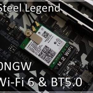 AX200NGW:B550 Steel LegendにM.2 WiFi6/BT5.0 を装着
