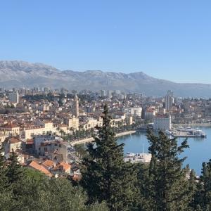 【クロアチア】7日目-3 再びマルヤンの丘からスプリト旧市街&期待外れだったランチ