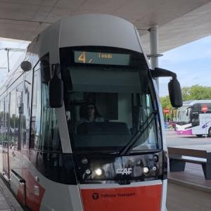 【バルト三国】1日目-1 エストニア首都タリン空港からトラムに乗ろう!