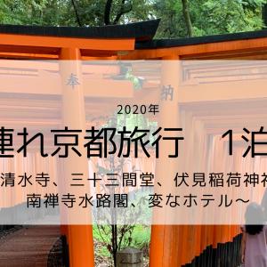 子連れ京都旅行 1泊2日 ~清水寺、三十三間堂、伏見稲荷神社、南禅寺水路閣、変なホテル~