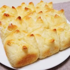 【レシピ】捏ねない!バターシュガーちぎりパン!