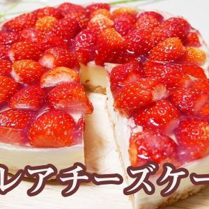 【レシピ】苺のレアチーズケーキ