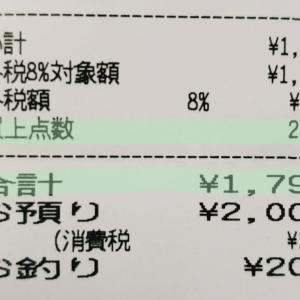【予算2,000円買い出し】かなりギリギリ(^^;危なかった!