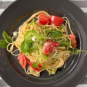 【北海道の家庭菜園】自家製ルッコラとトマトのさっぱり夏パスタ。