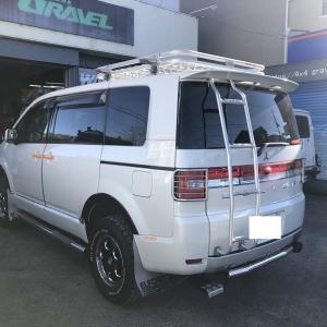 デリカD5ガソリン車のサスショック交換