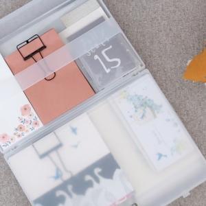 無印良品のキャリーケースに便箋など紙ものを収納