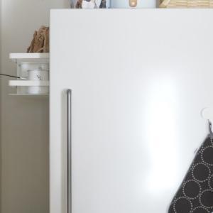 冷蔵庫横にマグネット収納取り付けました〈動画付き〉