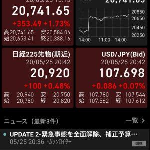 緊急事態宣言解除! 株価は上昇へ