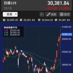 日経平均は3万円を回復、強い日本株!