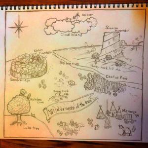 絵本の地図