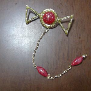 マギアレコード 環いろはちゃんのフード付きマントのブローチ完成とお花のイヤリングの作り方!