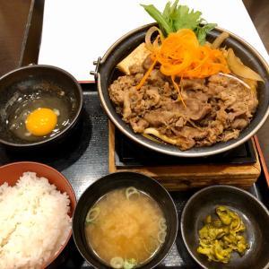 今日のランチ 牛肉のすき鍋定食