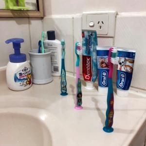 5歳の孫のつぶやき!   歯ブラシによる社会的距離