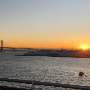 ダイヤモンドプリンセス   【動画あり】横浜港の日の出