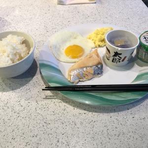 ダイヤモンドプリンセス   最終日の簡単な朝食