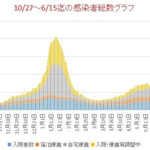 東京新型コロナ           6/1~15の感染者総数