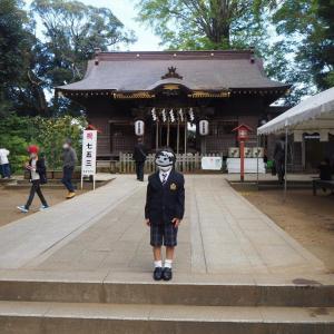 写真撮影と近所の神社で七五三のお参り!