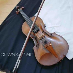 チョコケーキとプリンと…娘のバイオリン