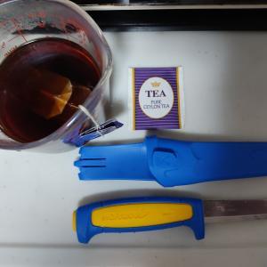 モーラナイフに黒さび加工を施してみました。