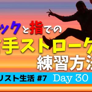 【ギター初心者】ピック&指でのストローク・右手の振り方【ギタリスト生活#7・30日目】