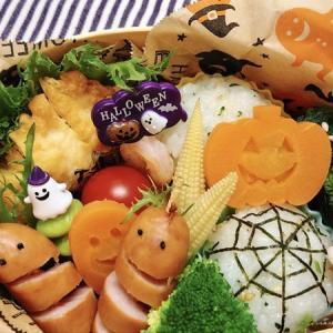 10月18日(木) 青菜のクモの巣おにぎりとミイラ風シャウエッセン弁当