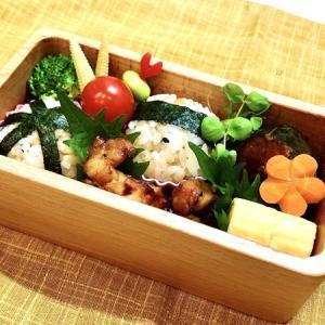 9月2日(水) 鮭わかめおにぎりと焼鳥と鯖の醤油煮弁当