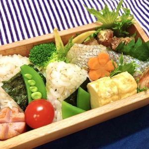 9月8日(火) 青菜おにぎりと鳥ももの竜田揚げ弁当