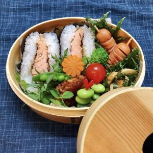 9月17日(木) 鮭ハラミのおにぎりサンド&鳥れんこんの甘酢つくね弁当
