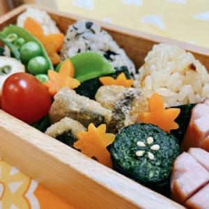 11月24日(火) 三種の小にぎりと軟骨入り鶏つくねの野菜巻き弁当