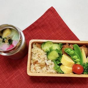 12月3日(木) しらすの炊き込みご飯と鶏もも肉の甘辛胡麻焼き弁当