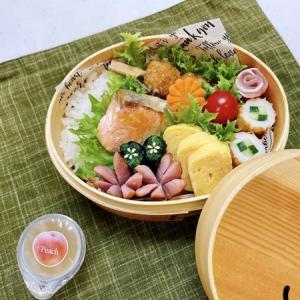 6月22日(火) つくねと焼き鮭と甘い卵焼き弁当